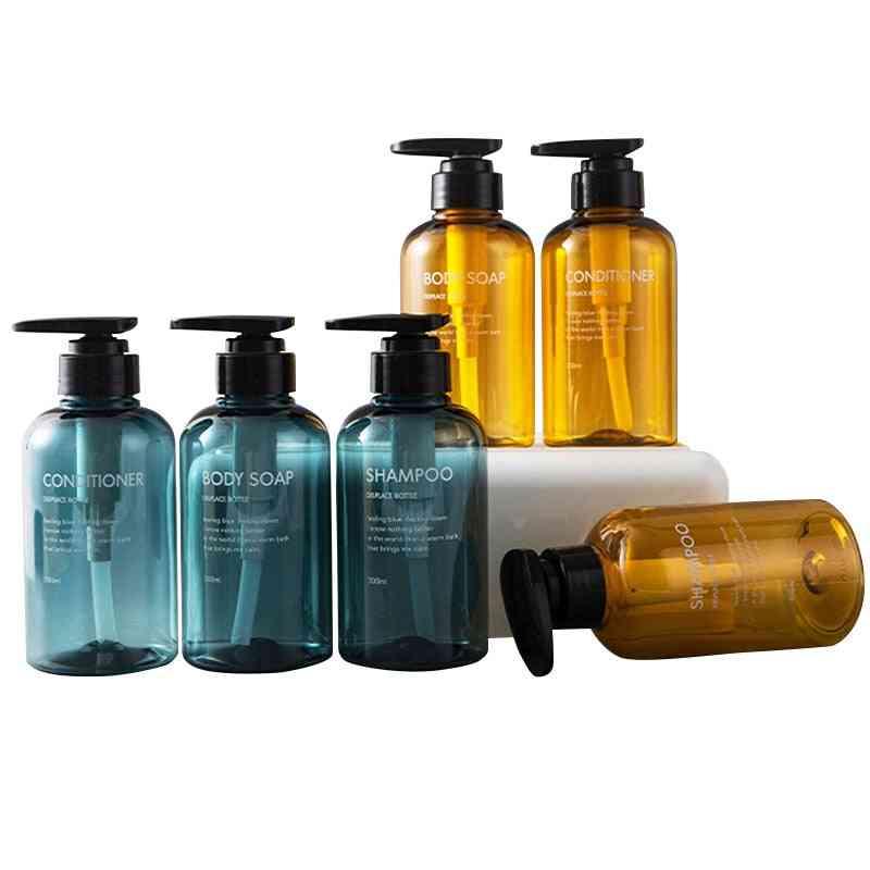Soap Dispenser Bathroom Shampoo Large Capacity Press Type Empty Bottle
