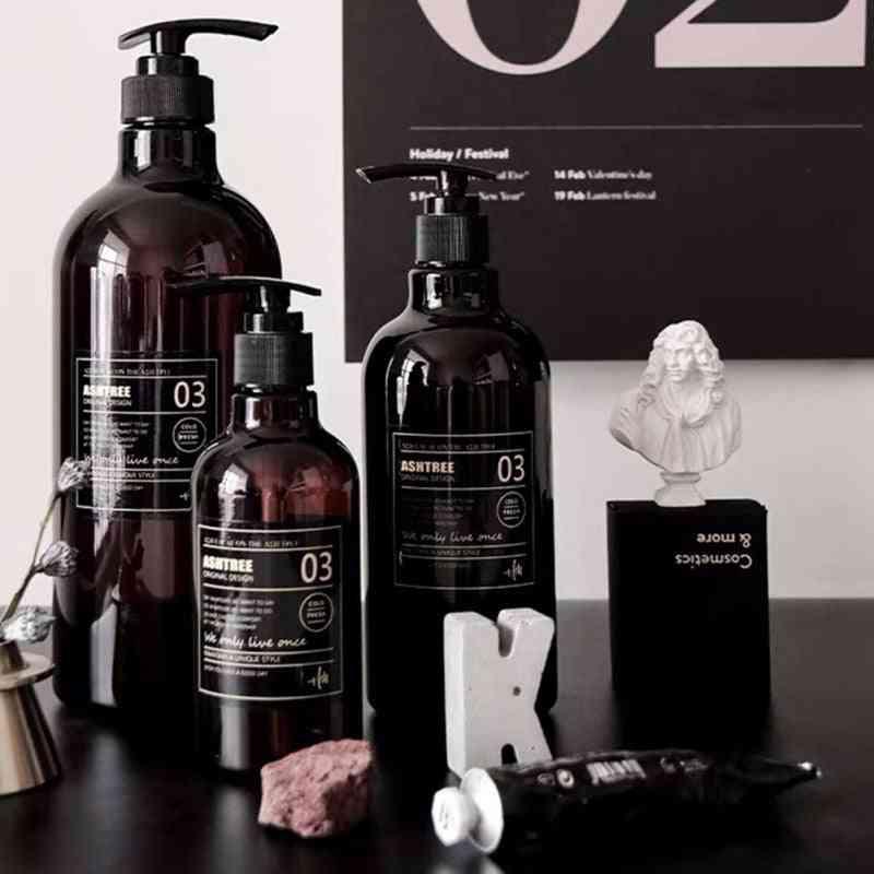 Refillable Hand Sanitizer Press Type Shampoo Bottle, Shower Gel Organize Container