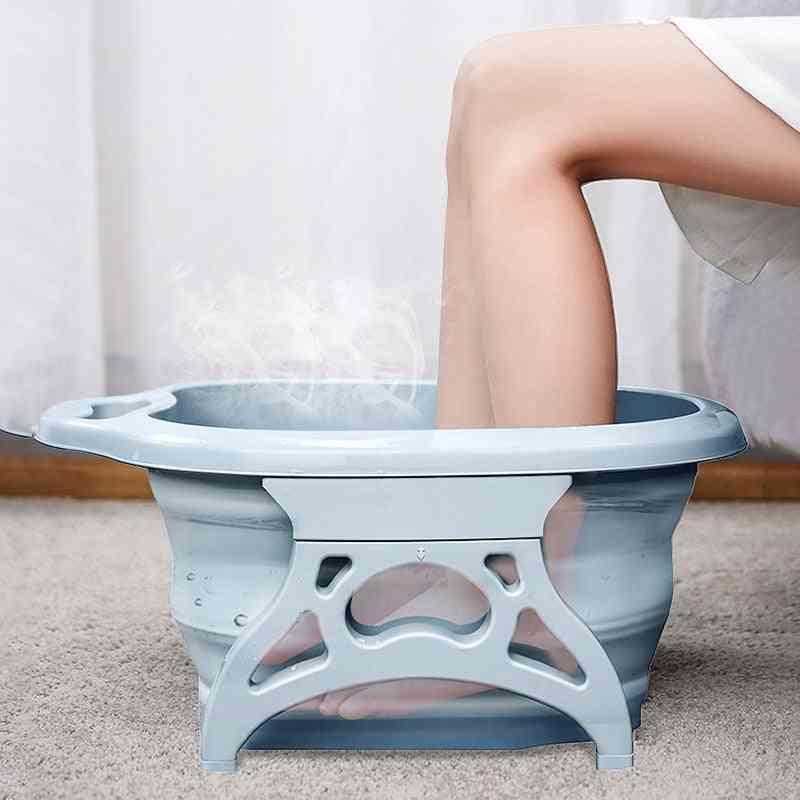 Portable Bathtubs Foldable Foot Soaking Bucket Foaming Massage Bucket Household Sauna Bathtub Pedicure Bath Plastic