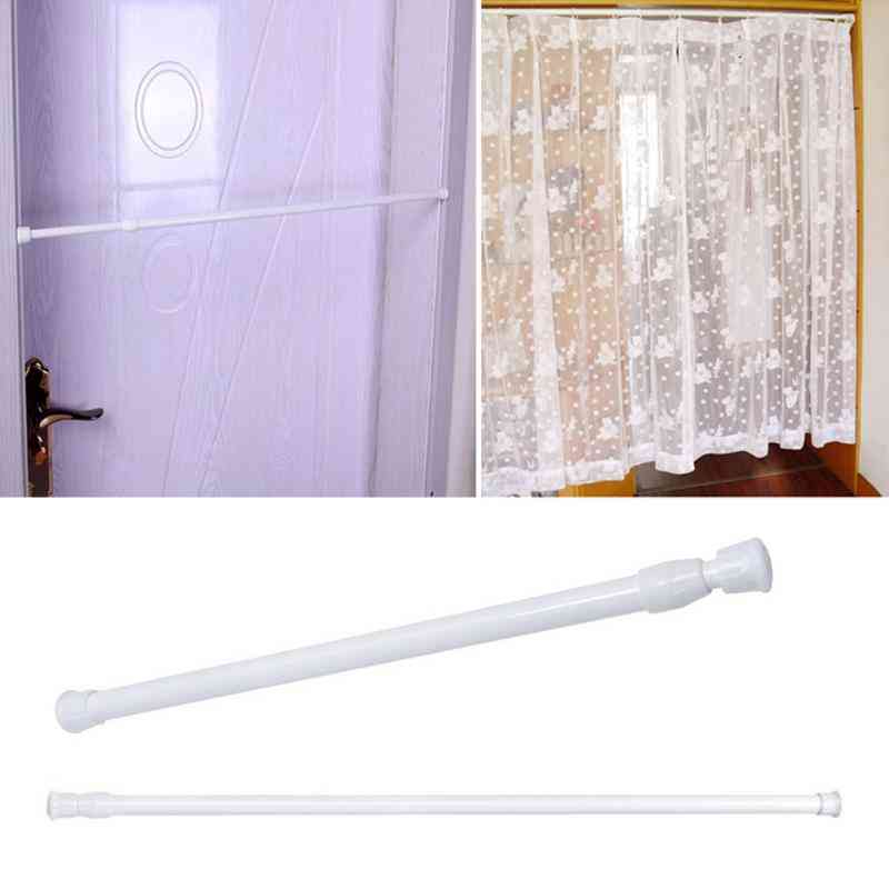 Adjustable Round Shower-wardrobe Curtain Hanging Rods