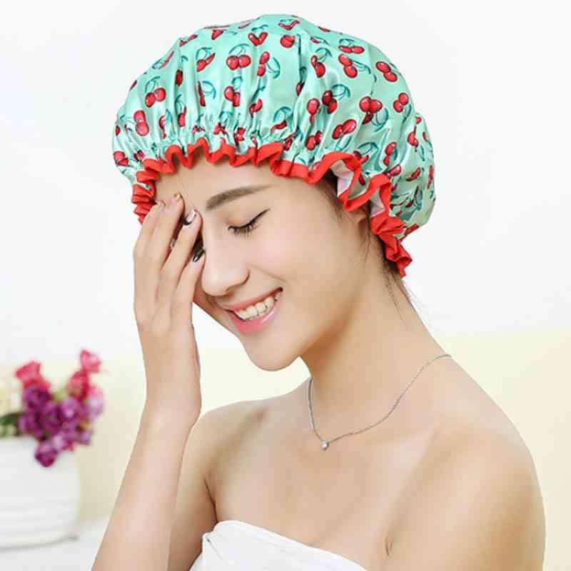 Waterproof Bath Double Layer Shower Cap / Hat