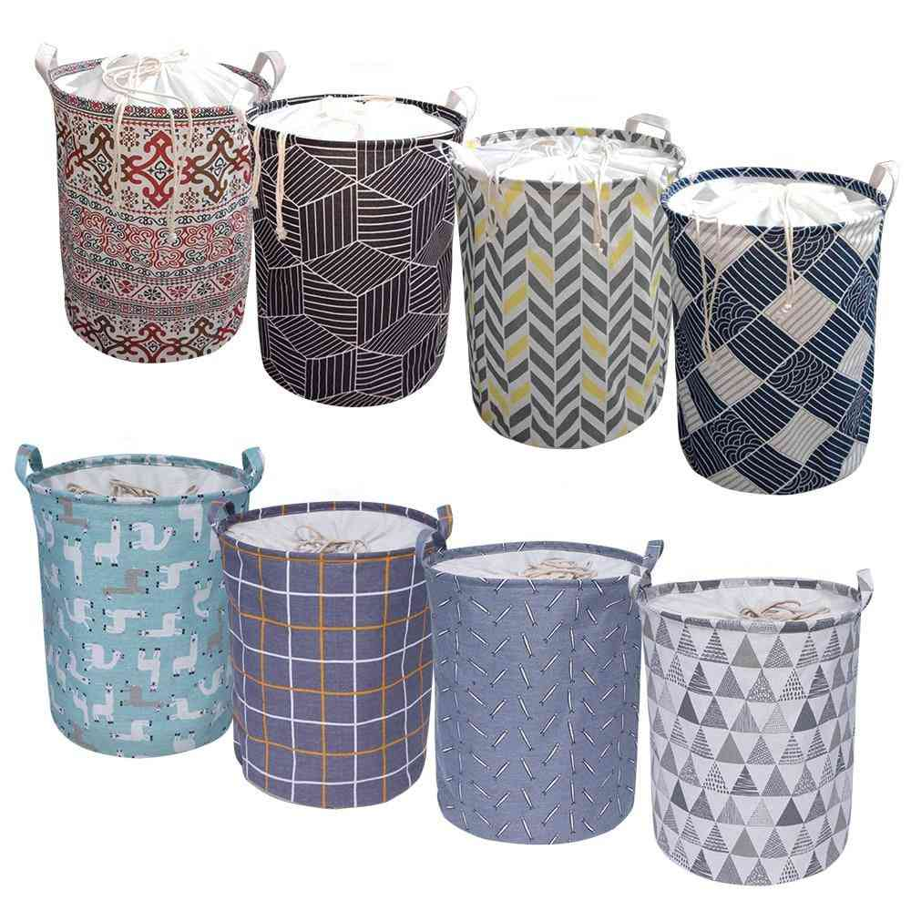 Waterproof, Large Capacity And Foldable Laundry Basket-drawstring Closure
