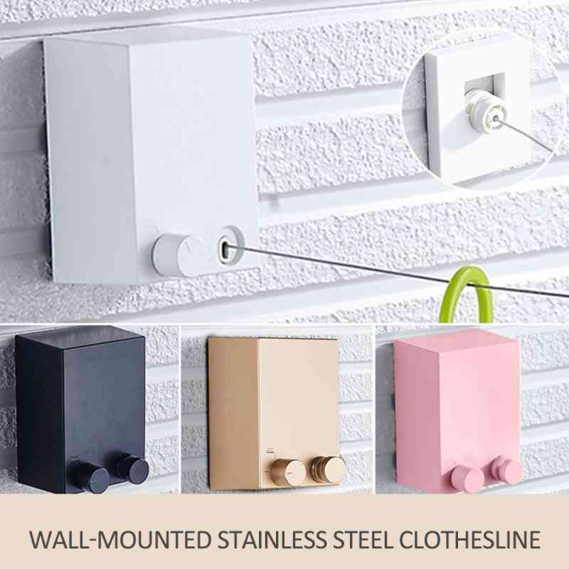 Invisible Clothesline Retractable Clothes Dryer Hanger Rack For Home