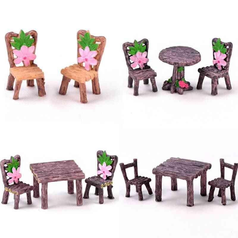 Miniatures Chair Fairy Garden Ornaments Figurines For Aquarium