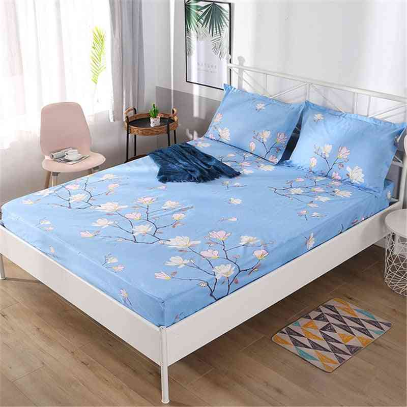 Bed Mattress Cover - Waterproof Anti Stain Fitted Sheet Stretch