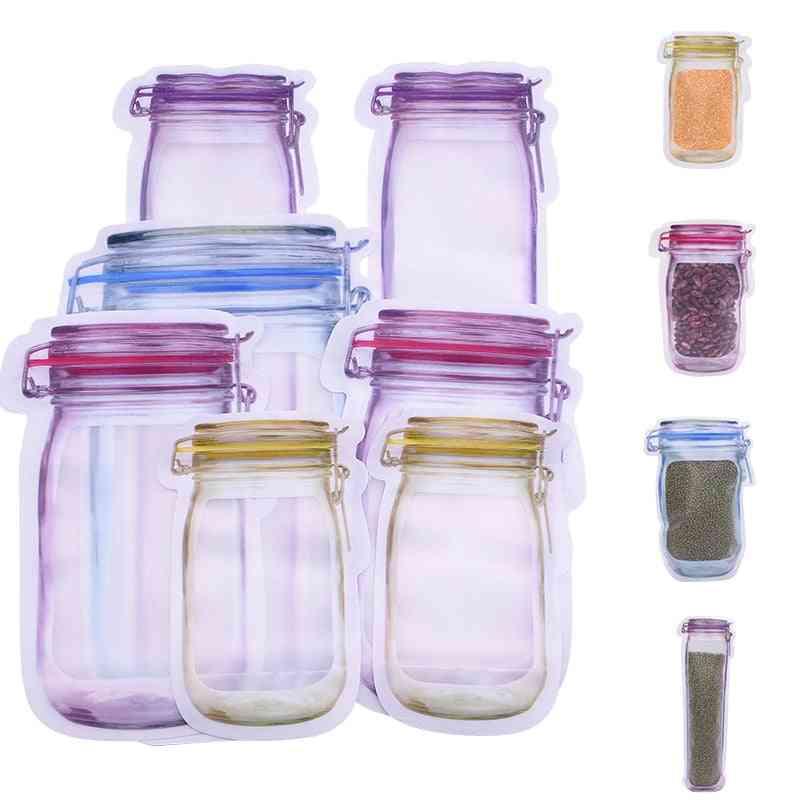 Portable, Reusable Pe Mason Jar Bottles