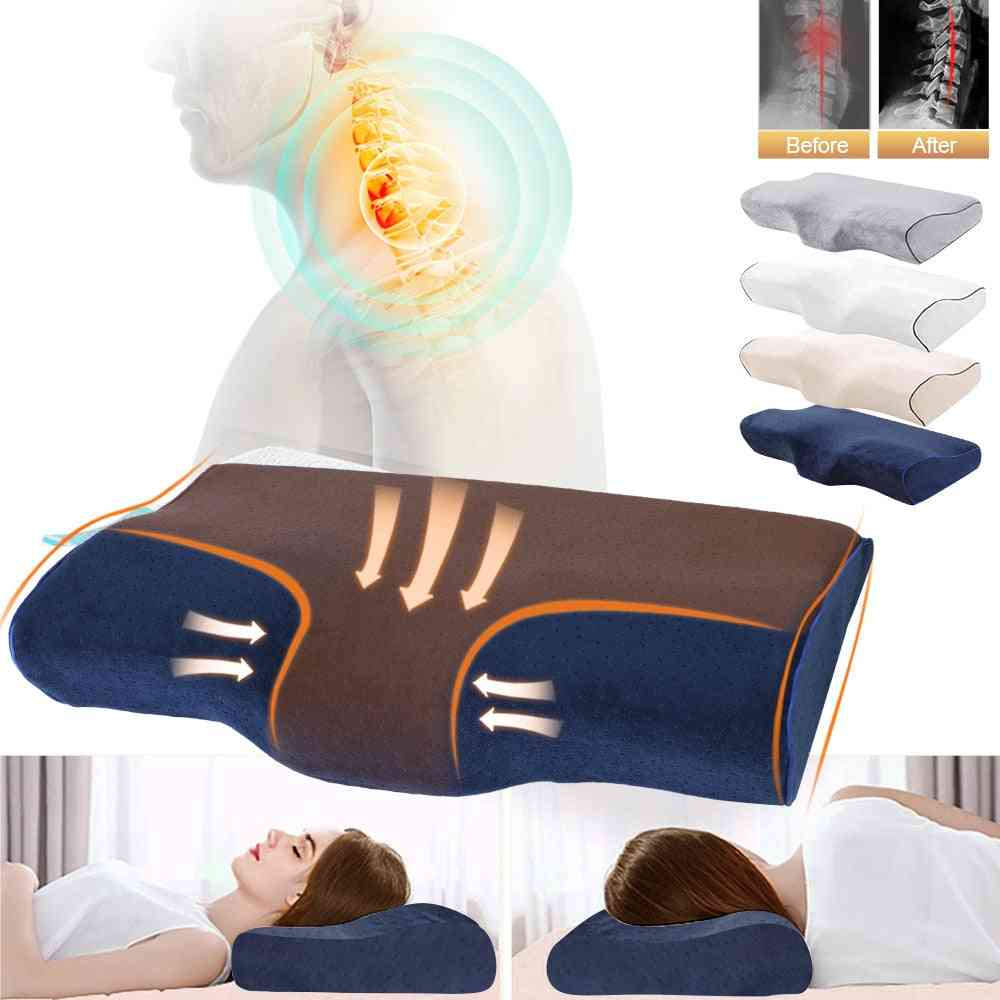 Butterfly Shaped Massage Memory Foam Pillow For Sleeping