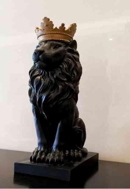 Crown Lion, Bear Statue Handicraft Sculpture Home Decor