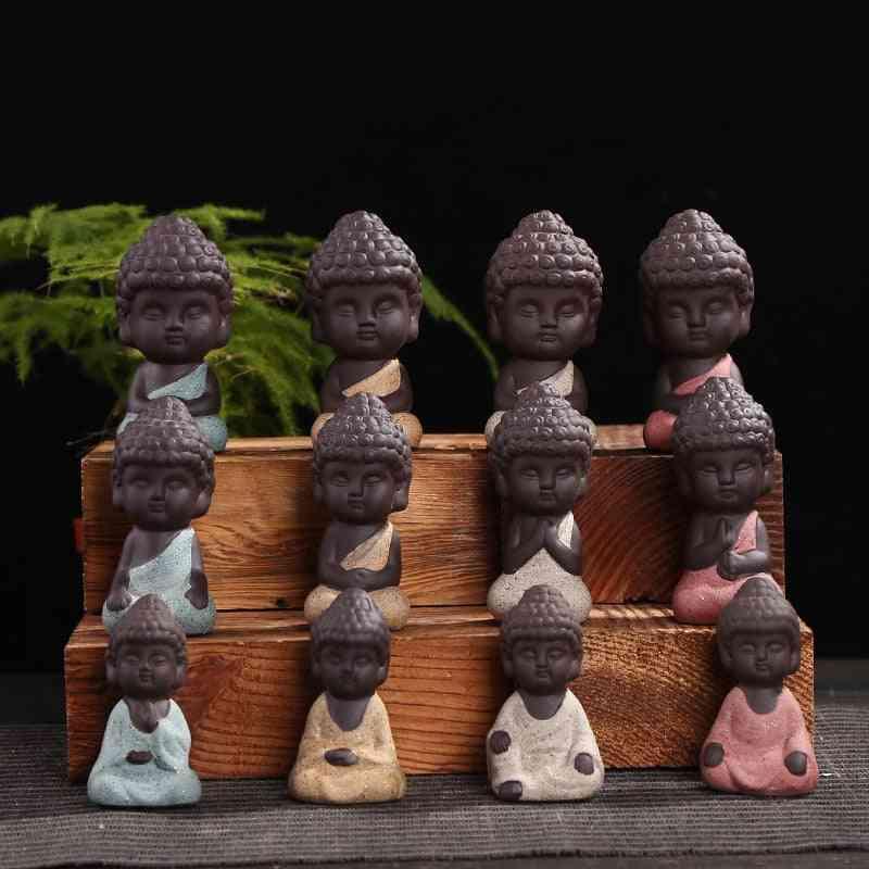 Small Buddha Statue - Mandala, Decorative, Ceramic Ornament