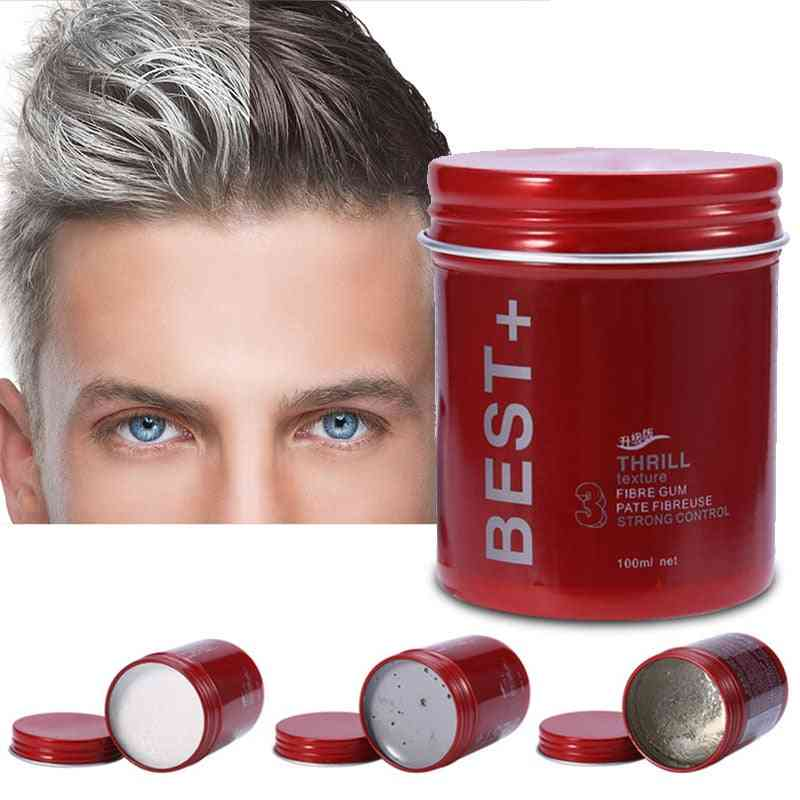 Natural Look, Moisturizing Hair Wax- Matte Fluffy Clay For Styling