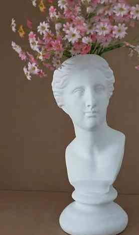 Creative, Resin Imitation Sculpture Head-plaster Vase