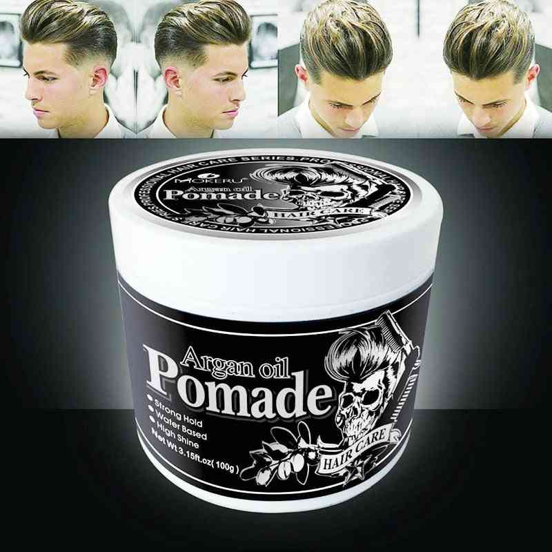 100g Strong Hold Hair Gel Wax For Hair Men, Long Lasting Dry Stereotypes Type - Hair Balsam Oil Wax For Hair Styling