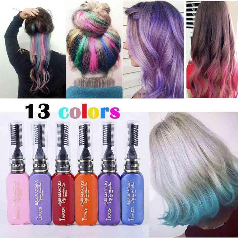 Disposable Hair Color - Temporary, Non Toxic Diy Hair Color Mascara Cream