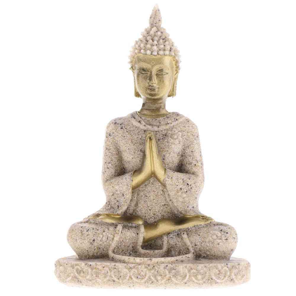 Hue Meditation Buddha Sculpture - Handmade Figurine Meditation Miniatures