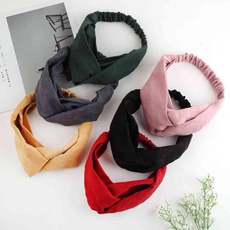 Bow Headband, Elastic Wrap - Women Hair Accessories