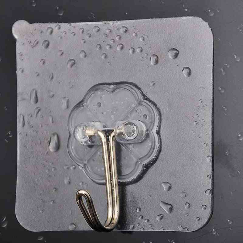 Waterproof, Self-adhesive, Strong And Transparent Wall Hook