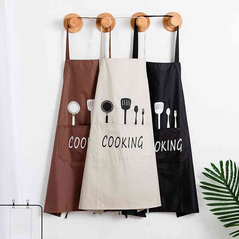 Woman Adult Bibs Home Cooking Baking Coffee Shop Cleaning Striped Apron