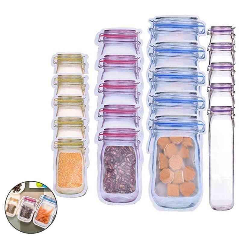 Reusable Food Storage Snack Mason Fresh Sealed Bags - Food Saver