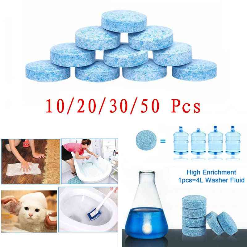 Multifunctional Effervescent Tablets Car Windshield Cleaner Universal Cleaning Tool For Toilet Kitchen And Pet