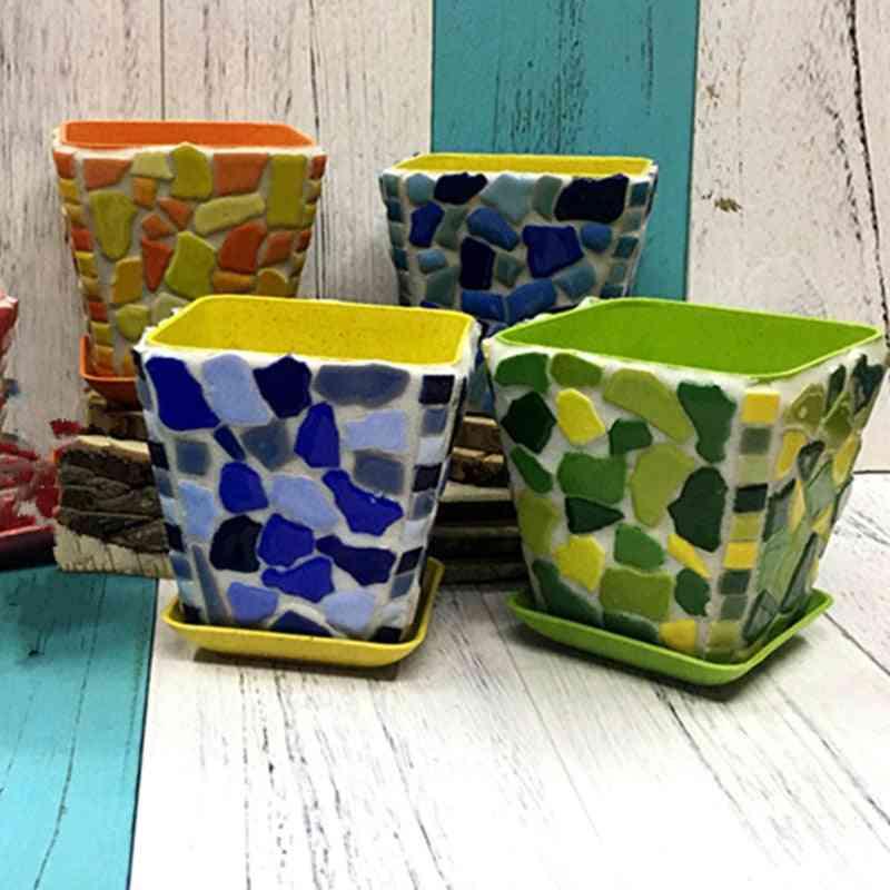 Creative Ceramic Mosaic Tiles Diy Wall Crafts - Handmade Decorative Materials