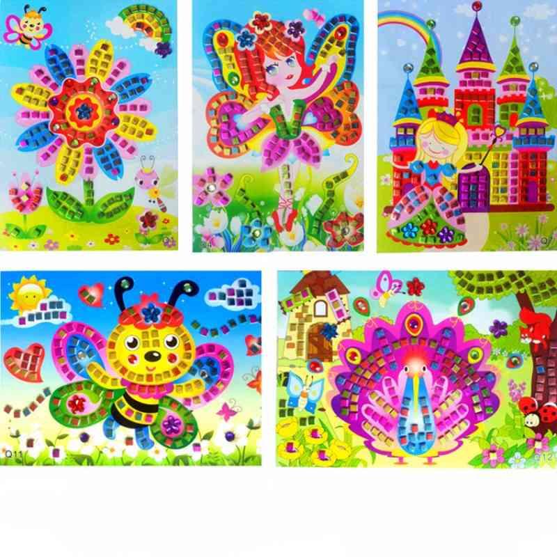 Handmade Puzzle Diy Foam Stickers Art, Eva Cartoon Animal Crystal 3d Sticker