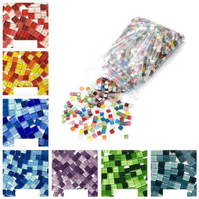 Creativity Art Handmade Crystal Glass Mini Mosaic Diy Tile