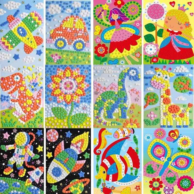 Handmade 3d Mosaic Diy Crystal Stickers Art - Eva Foam Creative Educational