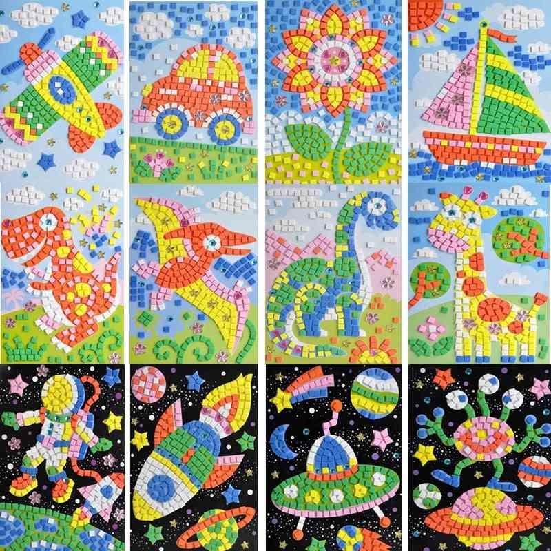 Handmade 3d Mosaicos Diy Foam&crystal Stickers