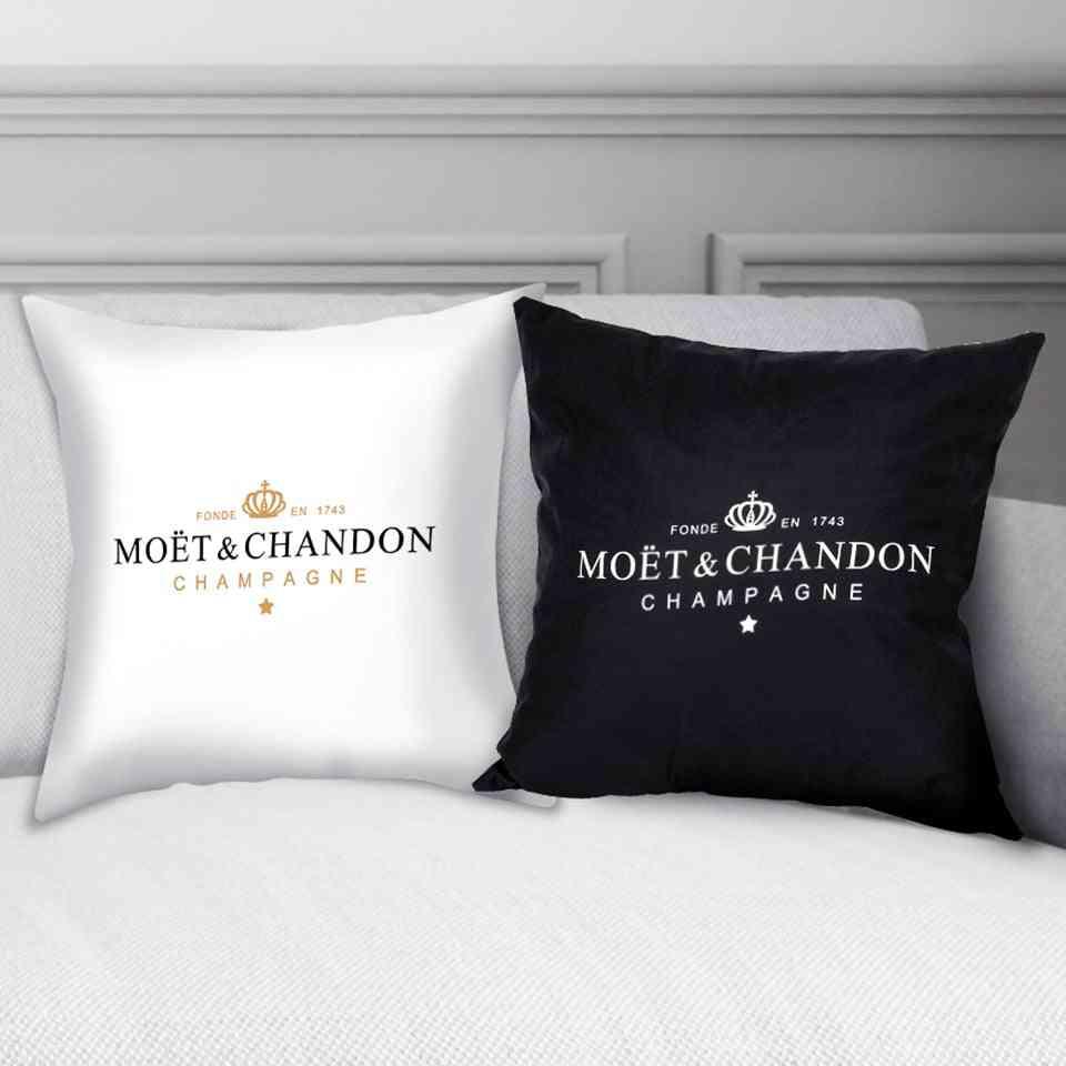 Black Velvet Pillow Print Cushion Cover - Cotton Made Pillowcase , High Quality Printing Pillow Cover