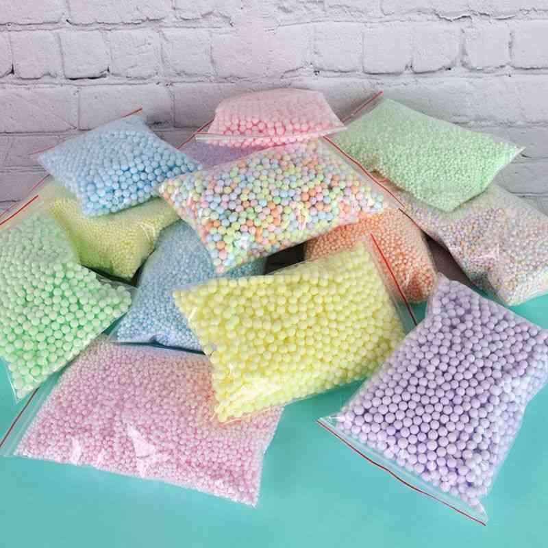 14000pcs Styrofoam Filler Balls Bottle Diy Snow Mud Particles Accessories Slime Balls Small Tiny 2 4mm Foam Beads For Foam|ball Ornaments