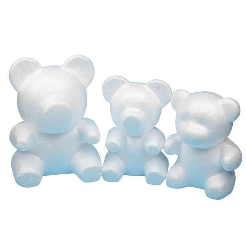 Polystyrene Styrofoam Foam Ball And Bear Craft For Diy Party Decoration