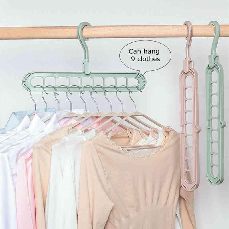 Multi Function Wonder Closet Space Saver Organizer Rotatable Plain Colour Clothing Storage Magic Hanger