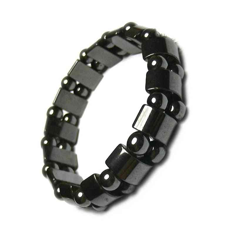 Magnetic Therapy Health Care - Loss Weight Effective Black Stone Bracelets