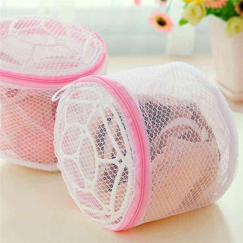 Home Use Lingerie Washing Mesh Clothing Underwear Organizer Washing Bag, Useful Mesh Net Bra Wash Bag Zipper Laundry Bag