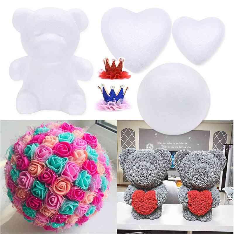 Polystyrene Styrofoam Foam Ball Diy Rose , Bear