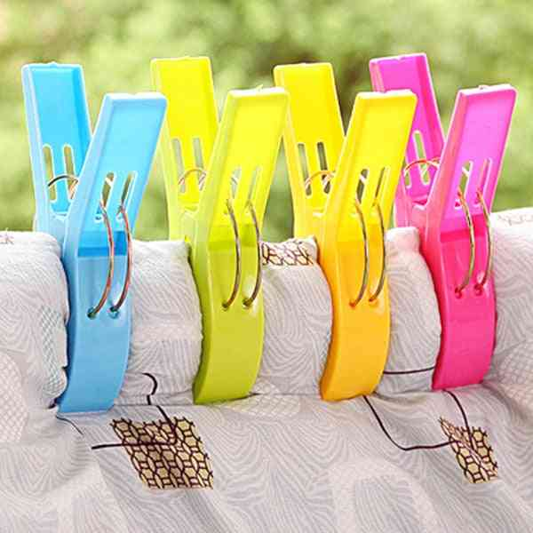 Large Bright Colour Clothes Clip Plastic Beach Towel Pegs Clothespin Clips To Sunbed Multicolor