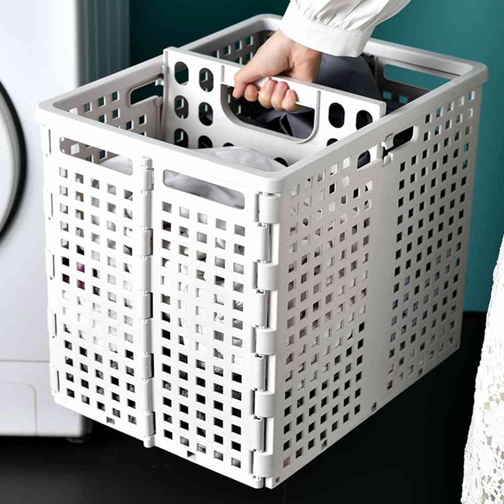 Large Folding Laundry Basket For Dirty Clothes Storage ,toy Organizer Storage - Box Bathroom Organizer