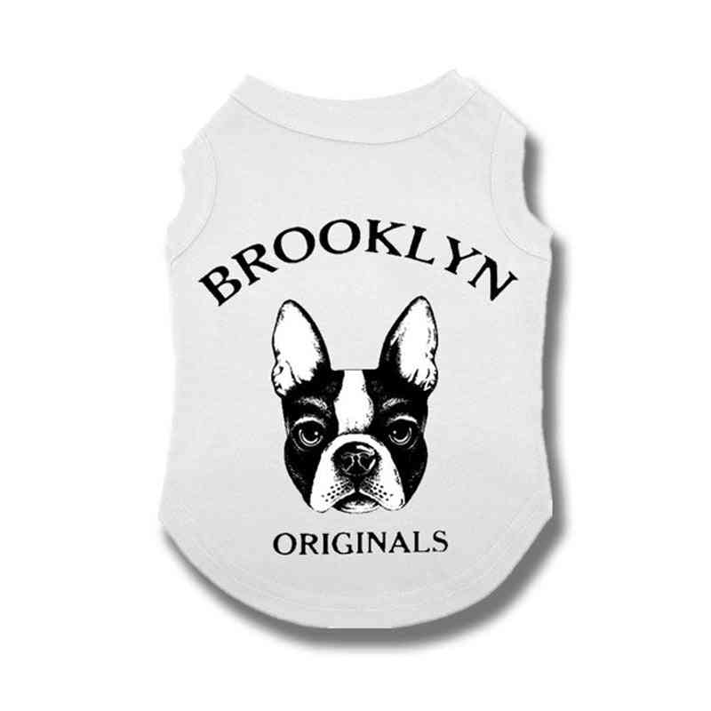 Cute Clothes Vest Shirt For Small Medium French Bulldog Outdoor Costumes