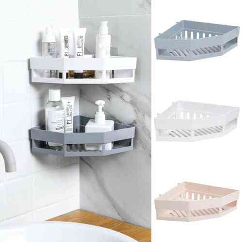 Hot Bathroom Corner Shelves Shampoo Holder - Mess Shower Organizer , Wall Holder & Space Saver