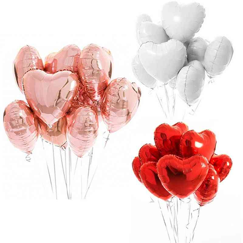 10pcs Foil Balloons, Latex Balloons For Wedding / Birthday Party Decorations