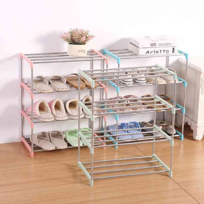 Multi Layer, Stainless Steel, Easy To Assemble-shoe Storage Rack