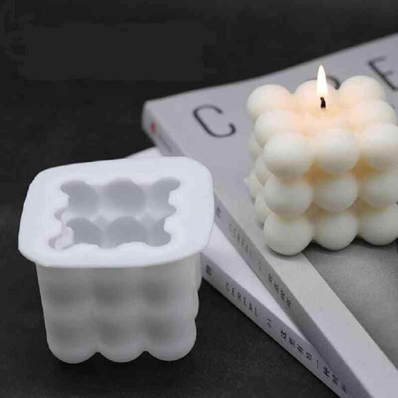 Diy 3d Silicone Plaster-reusable Candles Mold
