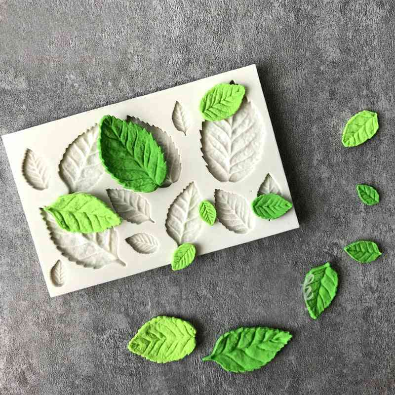 Rose Leaves Pattern-silicone Mold For Cake Decoration
