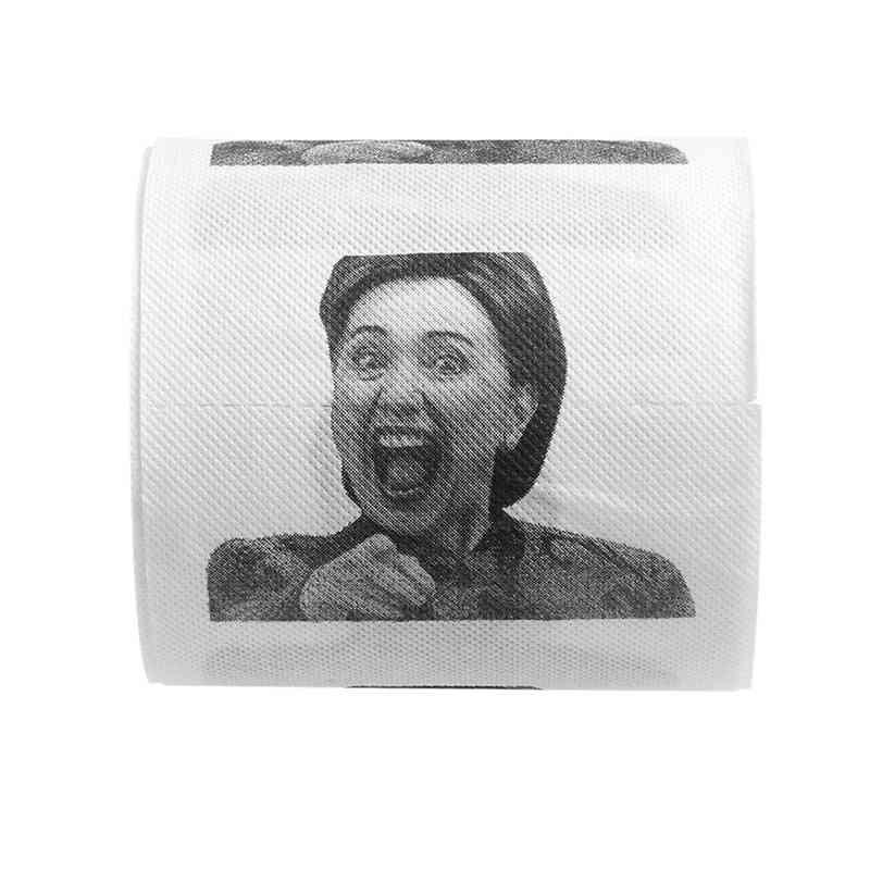 1pc Hillary Clinton Toilet Paper Tissue Roll - Prank