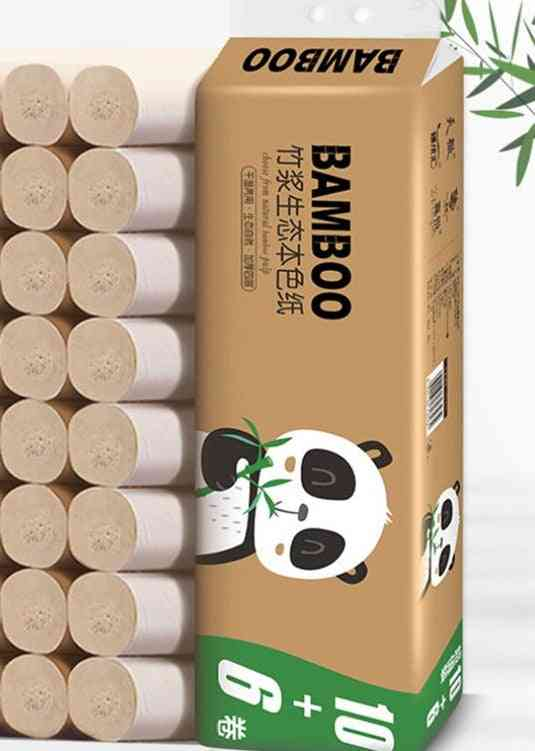 16 Rolls Bathroom Toilet Paper - Water Absorbtion , Soft Roll Paper Bamboo Pulp Coreless Tissue Paper For Home ,hotel Toilet