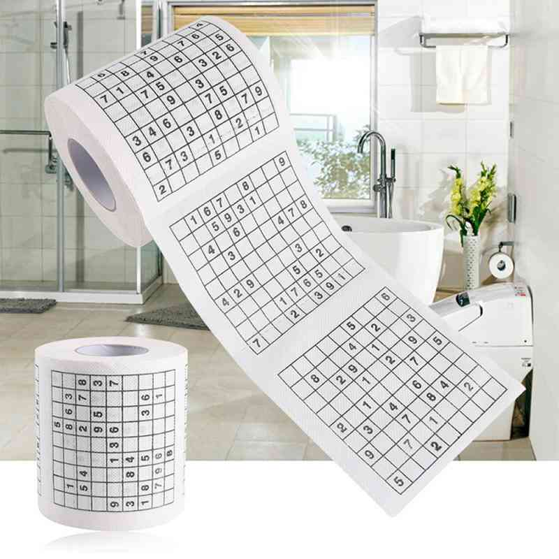 Toilet Rolls 2 Ply Home Roll Toilet Paper - Bathroom Creative Games Paper