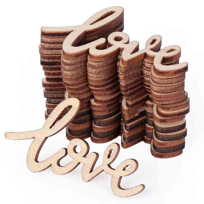 Rustic Wooden Love Letters Decor - Wedding Party Table Decorations