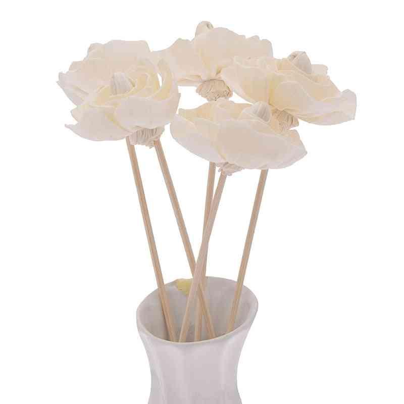Household 5pcs Flower Shaped No Fire Aroma Diffuser Sticks