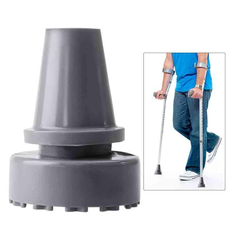 Rubber Head Crutch Accessories - Antislip Tips Walking Stick Feet