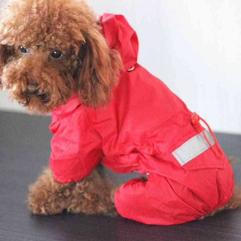 Pet Cat Dog Hooded Reflective Puppy Small Dog Rain Coat